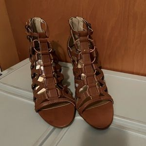 Brown Strappy Heels, 10